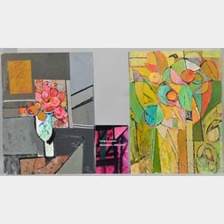 Irving B. Haynes (American, 1927-2005)      Two Works: Abstract Still Life with Vase