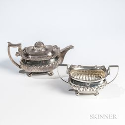 George III Sterling Silver Teapot and Sugar Bowl