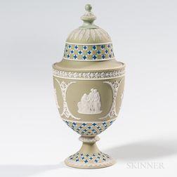 Wedgwood Tricolor Jasper Dip Diceware Vase and Cover