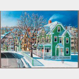 Wade Zahares (American, 20th/21st Century)      Winter Scene