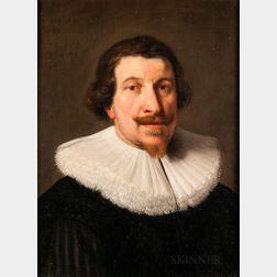School of Thomas de Keyser (Dutch, 1596-1667)      Head of a Man in a Lace Ruff