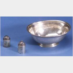 Three Arts and Crafts Sterling Tablewares