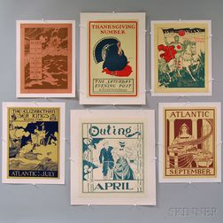 Six 19th/20th Century Magazine Advertising Lithograph Posters