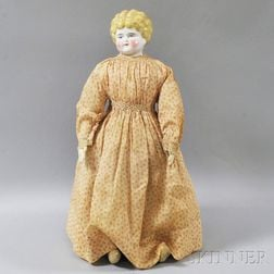 Blonde China Shoulder Head Doll