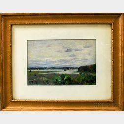 John Rettig (American, 1855-1932)      Cotuit, Cape Cod (from Grand Island)