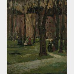 Robert Henri (American, 1865-1929)      Old Square, Philadelphia