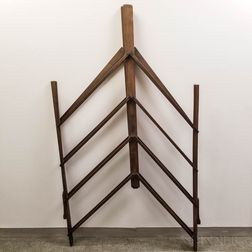 Maple Folding Drying Rack.     Estimate $200-250