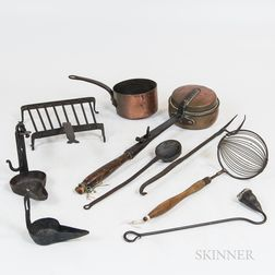 Group of Hearth Cooking Items
