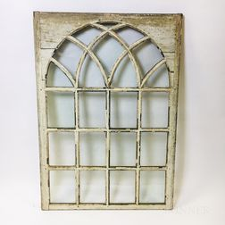 Glazed and White-painted Pine Window