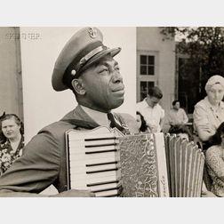 Edward Clark (American, 1912-2000)      Graham Jackson, Navy Bandsman, at President Roosevelt's Funeral.