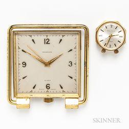 Two Tiffany & Co. Travel Alarm Clocks