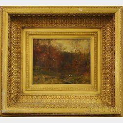 Alexander Helwig Wyant (American, 1836-1892)      Study: Fall Landscape