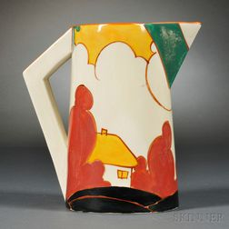 Clarice Cliff Green Autumn   Conical Jug