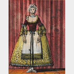 Eugene Berman (American, 1899-1972)      Costume Design for Despina, from Mozart's Così fan tutte