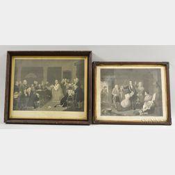 Five Framed Prints of American Historical Scenes