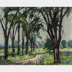 Hayley Lever (American, 1876-1958)      Fairfield Church, New Jersey