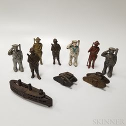 Ten Cast Iron Mostly Figural Still Banks