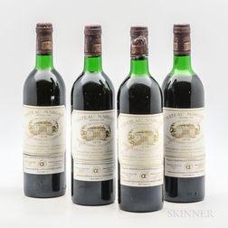Chateau Margaux 1978, 4 bottles
