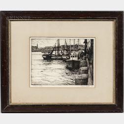 "Pasquale ""Pat"" Masiello (American, 1912-1987)      Fisherman's Wharf"