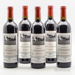 Chateau LEvangile 2005, 5 bottles