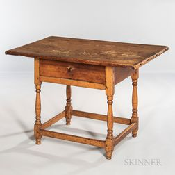 Pine and Maple Turned Tavern Table