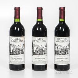 Chateau Montelena Cabernet Sauvignon Estate 1986, 3 bottles