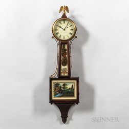 """New England Patent Timepiece or """"Banjo"""" Clock"""