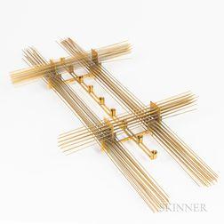 Brass Wirework Hanging Candelabra/Chandelier
