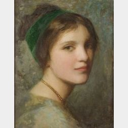 William John Whittemore (American, 1860-1955)  Portrait of a Young Woman