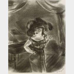 Kuniyoshi Yasuo (Japanese/American, 1893-1953)  Burlesque Queen