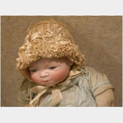 Large Bisque Head Bye-Lo Baby Doll