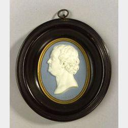 Wedgwood and Bentley Solid Blue Jasper Portrait Medallion of Benjamin Franklin