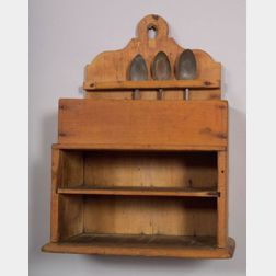 Two-Tiered Pine Spoon Rack