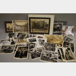 Lot of Twenty-seven Photographs, Including Historical 19th/20th Century Views, Movie Press Stills, and Promotions c. 1942, and Works...
