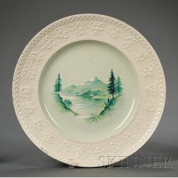 Wedgwood Hand Painted Queen's Ware Charger