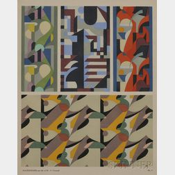 Adam and Maurice Pillard Verneuil (French, 20th Century) Untitled [Four Abstract Motifs], Plate 7 from Kaleidoscope : Ornements Abst...