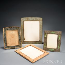 Four Picture Frames with Carved Hardstone Decoration