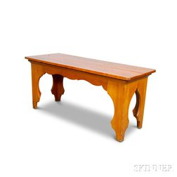 Country Carved Pine Table