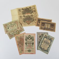 Group of Russian Paper Money