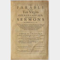 Shepard, Thomas (1605-1649) The Parable of the Ten Virgins.