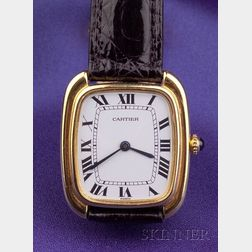 18kt Gold Wristwatch, Cartier Paris
