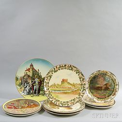 Nine Doulton Chargers