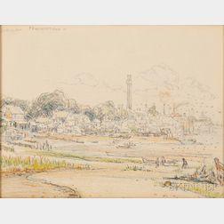 Reynolds Beal (American, 1866-1951)      Provincetown, September 18, 1916