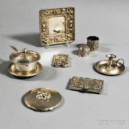 Group of Sterling Silver Tableware and Accessories