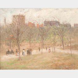 Charles Edwin Lewis Green (American, 1844-1915)      Boston Common Looking Towards Beacon Street