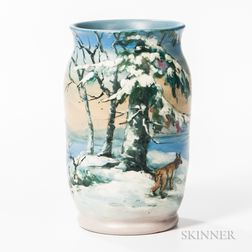 Hester Pillsbury for Weller Pottery Vase