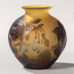 Émile Gallé Art Nouveau Cameo Glass Vase