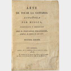 Ferandiere, Fernando (1740-1816) Arte de Tocar la Guitarra Espanola por Musica, Compuesto y Ordenado.