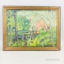 American School, 19th Century    Untitled (Farmhouse)