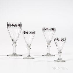 Fourteen-piece Daum Stemware Set